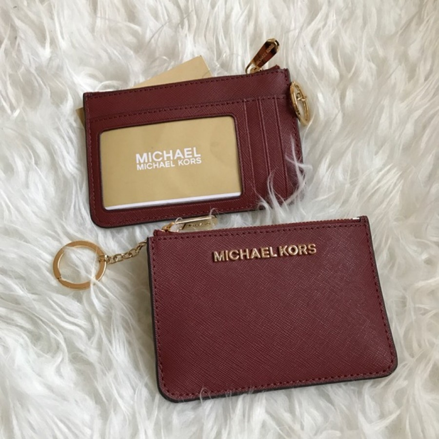 b0acaa4e522d1 Michael Kors Jet Set Item Coin Pouch ID in Brick